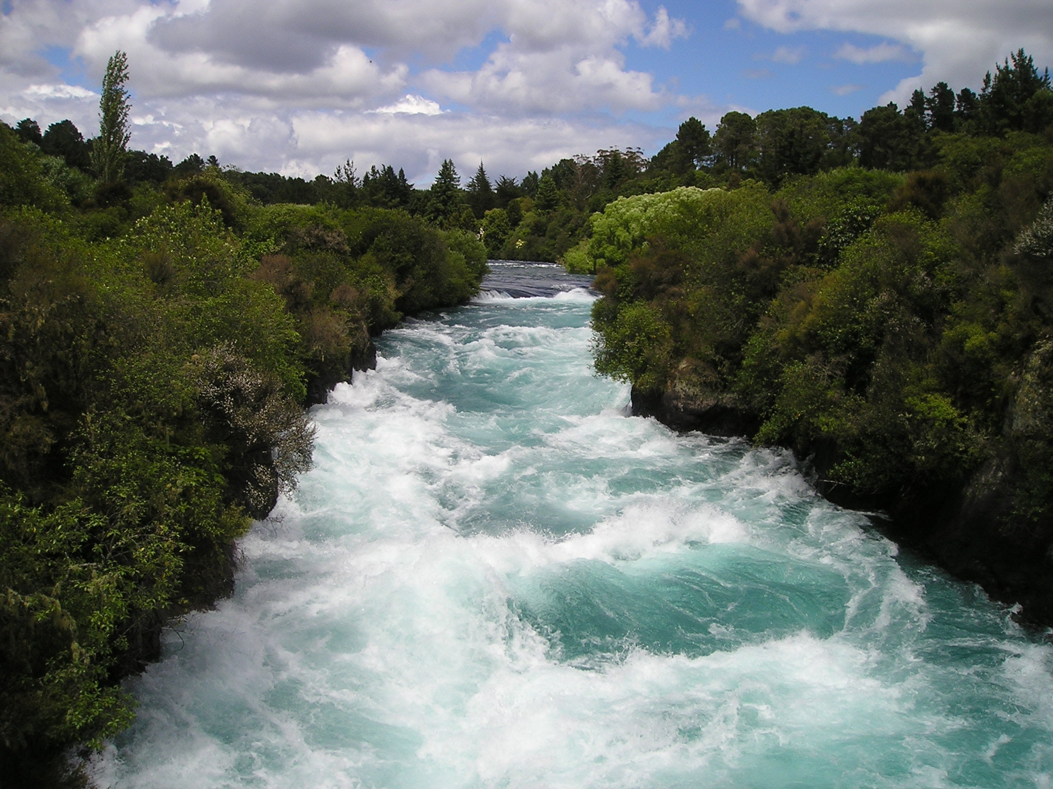fast-flowing river